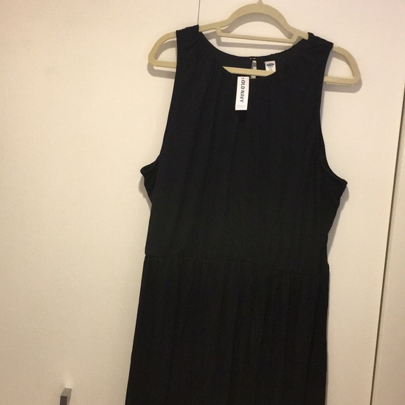 a0f34139ad Old Navy Dresses | Long Black Cotton Maxi Dress Xxl | Poshmark